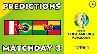 2019 Copa América Predictions - Matchday 3 Part 1