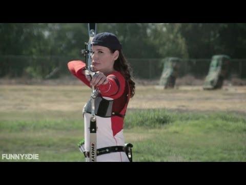Geena Davis Archery Tricks