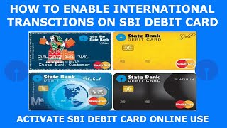How to activate international transaction on sbi debit card | sbi debit card international use