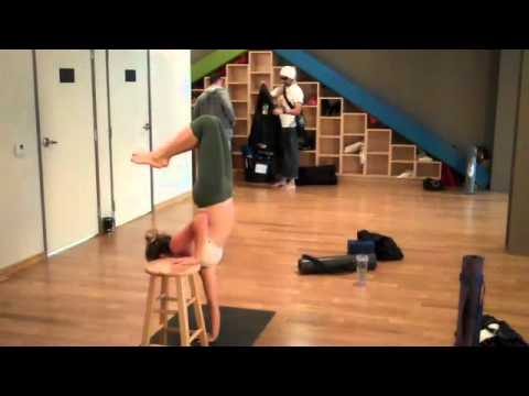 advanced yoga onehanded handstand prep with marysia