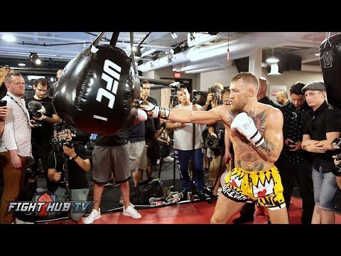 FULL & UNCUT - CONOR MCGREGOR'S MEDIA WORKOUT FOR FLOYD MAYWEATHER JR.