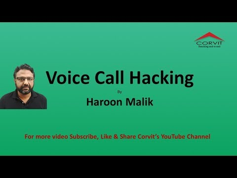 Voice Call Hacking By Mr. Haroon Malik