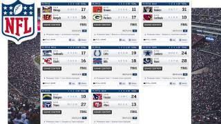 2016 NFL Pre Season Week 1 Scores