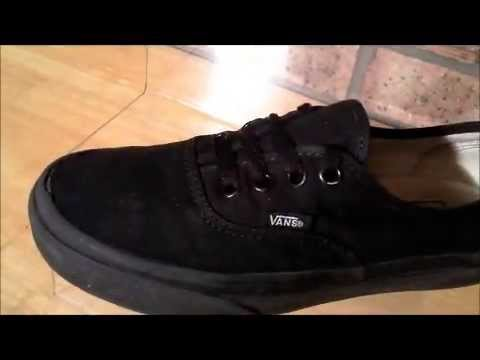 black off the wall vans shoes