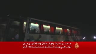 دفعة أولى من سكان داريا بريف دمشق تصل حماة