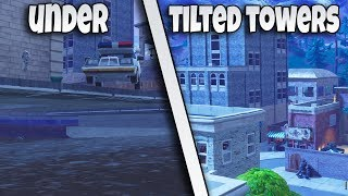 2 NEW TILTED TOWERS UNDER THE MAP GLITCHES | FORTNITE BR GLITCH