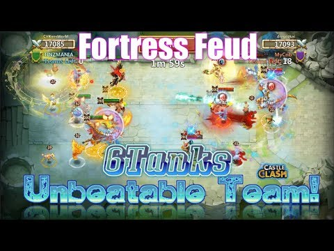 Unbeatable Team : 6 Tanks Vs Fortress Feud - Castle Clash