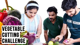 Total Fun! - Vegetable Cutting Challenge - Feat. Jeeva, Lijo - Aparna Thomas