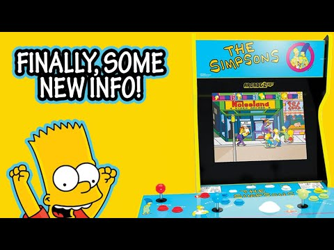 NEW Info on The Simpsons Cabinet from Arcade1up! from The Simpsons Man
