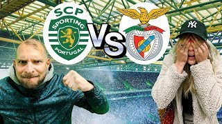 Epic SPORTING vs BENFICA derby! INCREDIBLE Atmosphere!!! 🏆