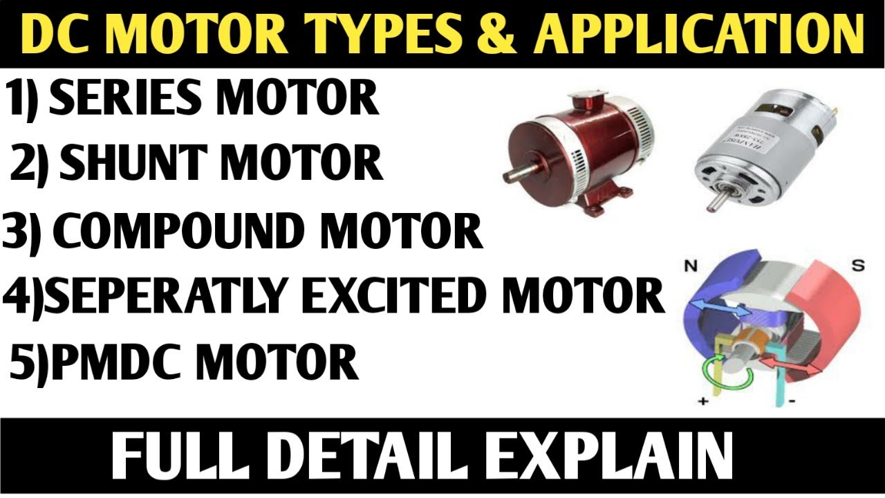 TYPES OF DC MOTOR! SELF EXCITED DC MOTOR! SEPERATLY EXCITED DC MOTOR