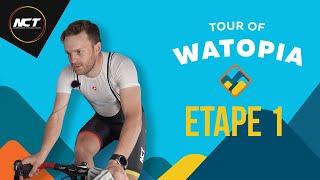 PREMIÈRE COURSE EN LIGNE SUR ZWIFT ! Tour of Watopia Etape 1