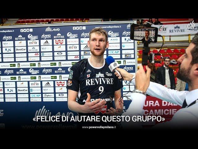 Superlega, l'intervista di Simon Hirsch dopo Milano - Castellana Grottey