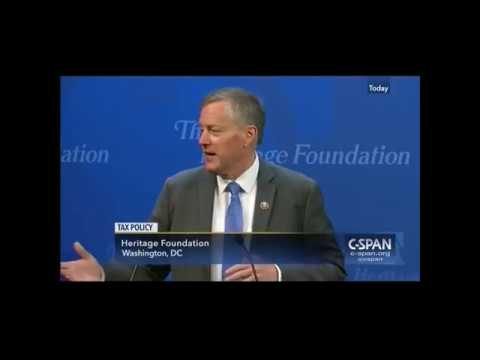 Rep. Meadows on Tax Reform - Opening Remarks at Heritage Foundation