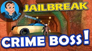 I've got the minigun car in Roblox Jailbreak Crime Boss Update!