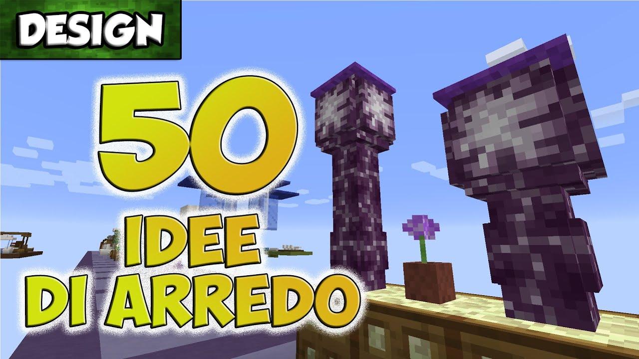 50 idee per arredare [1.9] ~ minecraft [design] - youtube - Idee Arredamento Minecraft
