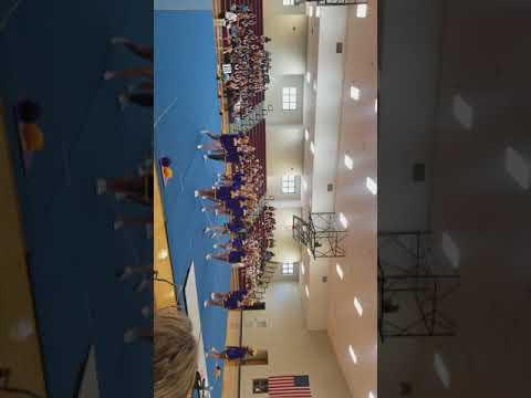 Springville Middle School cheerleaders