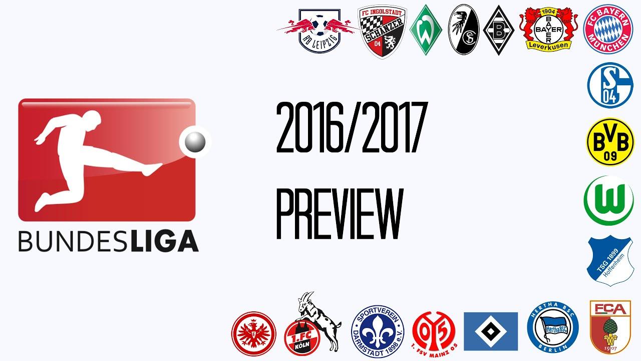 Bundesliga 2016 2017 Preview Youtube