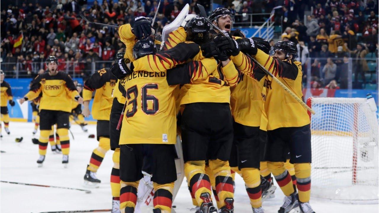 Germany Stuns Canada In Olympic Ice Hockey