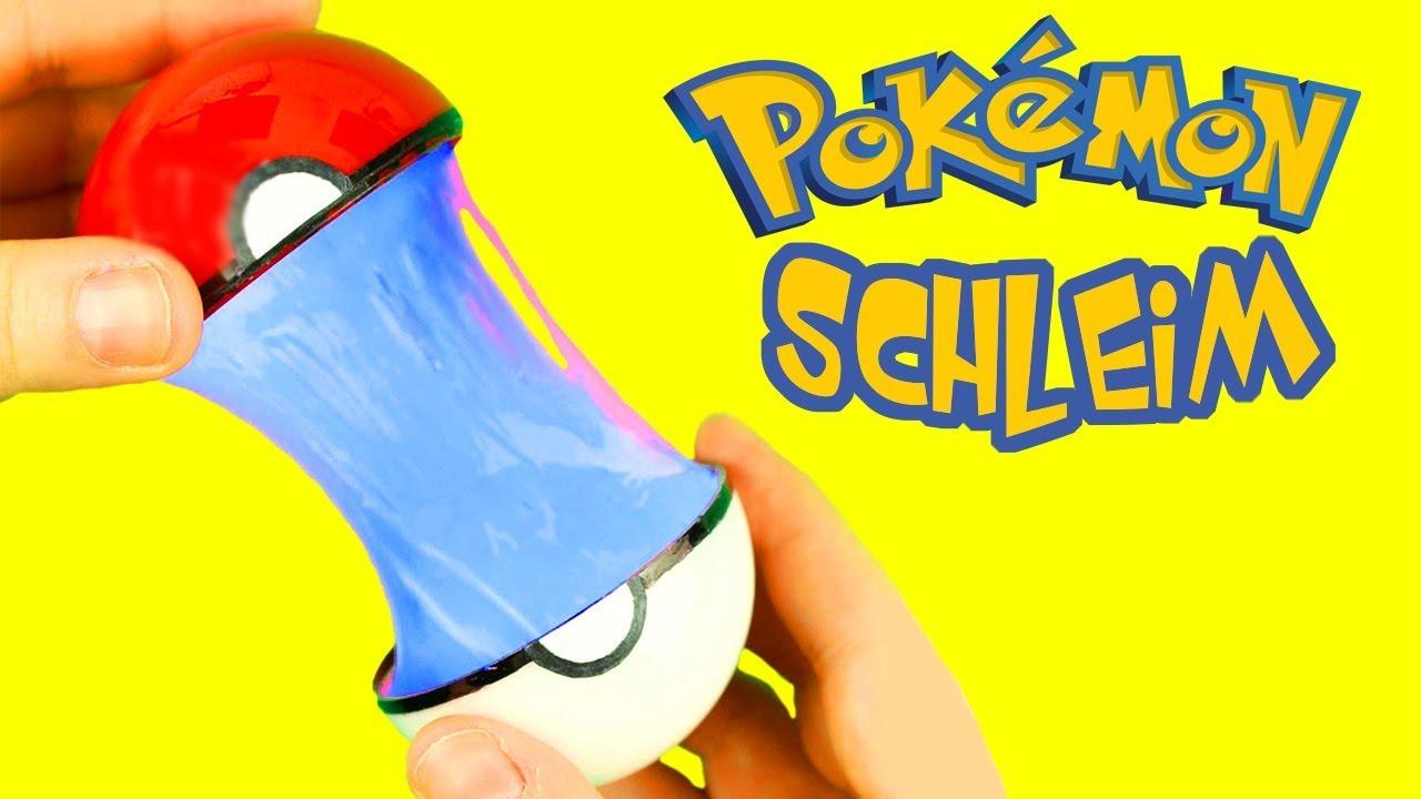maladez tm pokeball mit pokemon schleim selber machen youtube