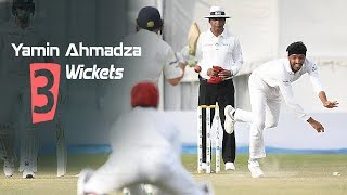 Yamin Ahmadzai's 3 Wickets Against Ireland || Only Test || Day 1 || Afg vs Ire in India 2019