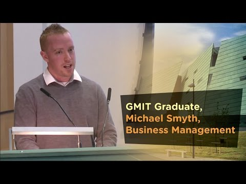 Business Management Graduate, Michael Smyth,  - Galway Mayo Institute of Technology - GMIT