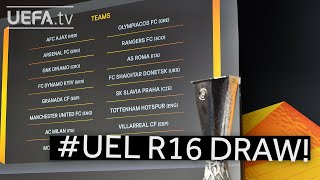 2020/21 UEFA Europa League Round of 16 draw