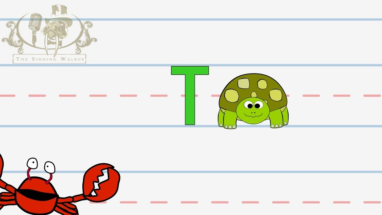 Write the letter t alphabet writing lesson for children the youtube premium expocarfo Choice Image