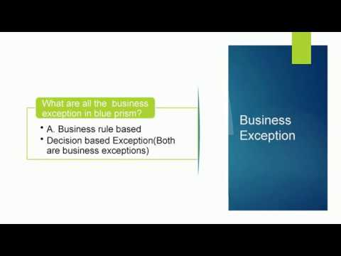 RPA-Top 10 Blue Prism Certification Dumps and interview questions