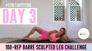 GET SCULPTED LEGS IN 30 DAYS CHALLENGE! Day 3: 100 Pearly Clam #StretchyFit100