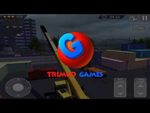 Truck & Crane SIM  Cargo Ship - HD Gameplay Video