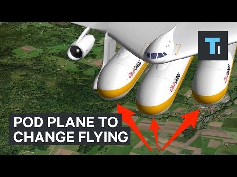 Pod plane to change flying