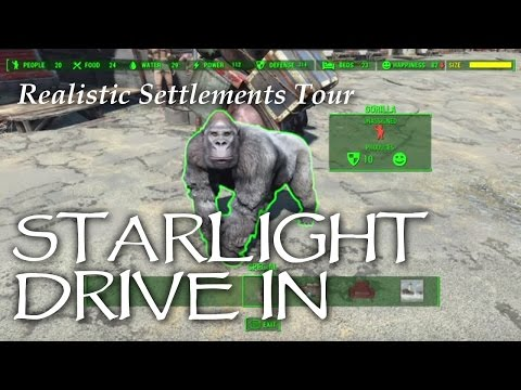 Settlement Tour ep05 Starlight Drive-in Fallout 4 PS4
