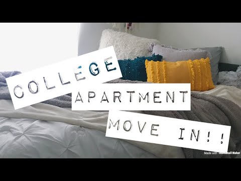 MOVE INTO MY APARTMENT VLOG// ETSU