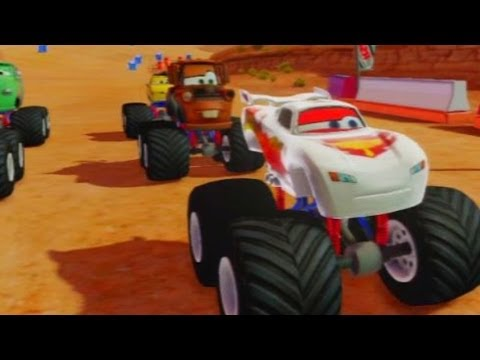 Cars Alive! Disney Infinity Gameplay -  Silver Lightning McQueen