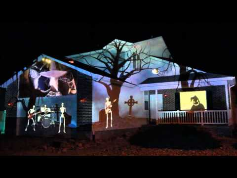 2015 Halloween House Projection Display Live