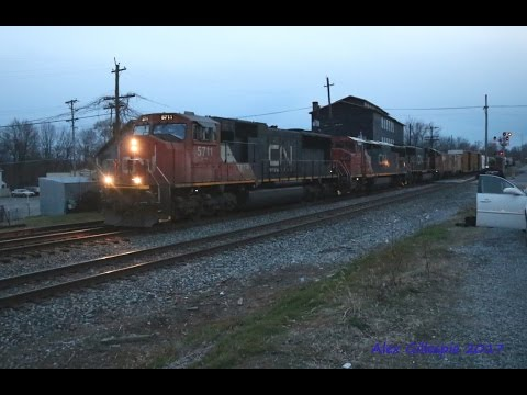 HD An awesome day South of the Mason Dixon Line 12R 18 with CN trio and more! 2 18 17