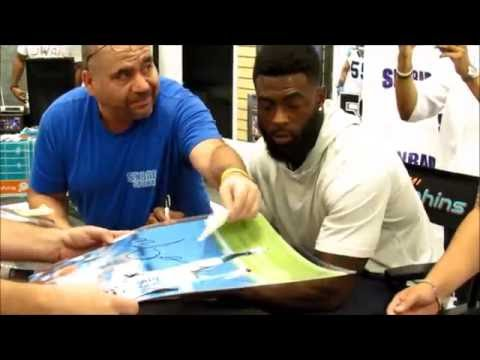 Dolphinstalk.com covers Reshad Jones Autograph signing at Sinbad sports