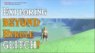 NEW GLITCH! Exploring BEYOND Hyrule! The EDGE of the WORLD DLC in Zelda Breath of the Wild DLC