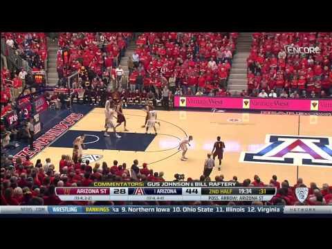 Arizona Wildcats vs Arizona State 1/16/2014