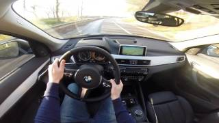 2015 BMW X1 xDrive 25i 231hp POV test drive GoPro