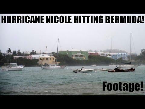 SCARY HURRICANE NICOLE FOOTAGE!! HURRICANE NICOLE HITTING BERMUDA!