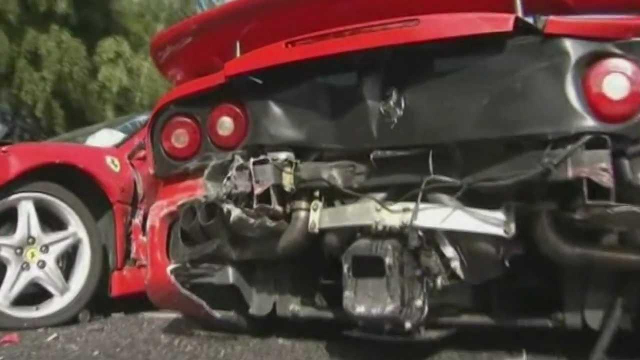 8 Ferrari Car Crash, Tokyo, Japan - YouTube