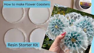 How to make Flower Coasters - Resin Starter Kit Full Tutorial