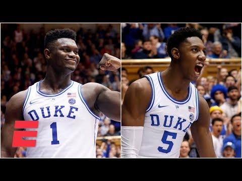 RJ Barrett, Zion Williamson combine for 55 in Duke's blowout win | College Basketball Highlights