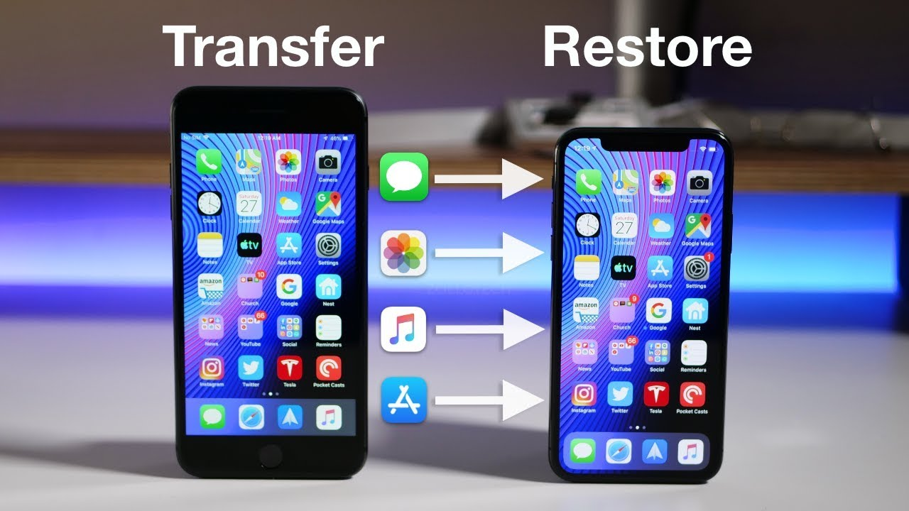 How To Transfer All Data From An Old Iphone To A New Iphone Without Itunes Or Icloud Youtube