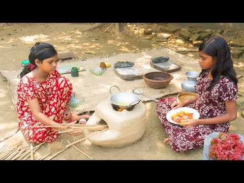 Village Children Cooking Village Traditional Pitha Step by Step by ABTVbd |  Village Cooking