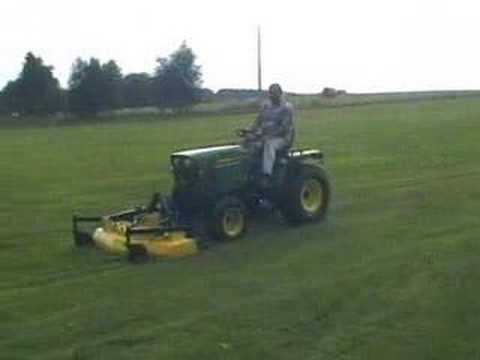 john deere 755 mowing youtube. Black Bedroom Furniture Sets. Home Design Ideas