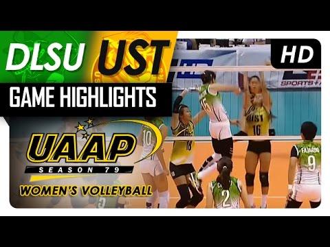 DLSU vs UST | Game Highlights | UAAP 79 WV | April 22, 2017