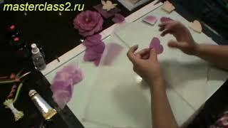 Цветы из ткани. Мастер класс Пион из ткани. Часть 4